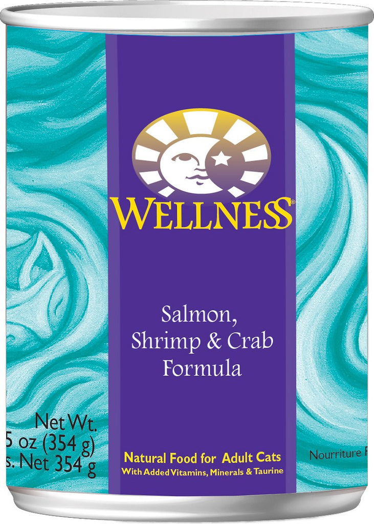 WELLNESS CAT SALMON, SHRIMP & CRAB 12.5OZ