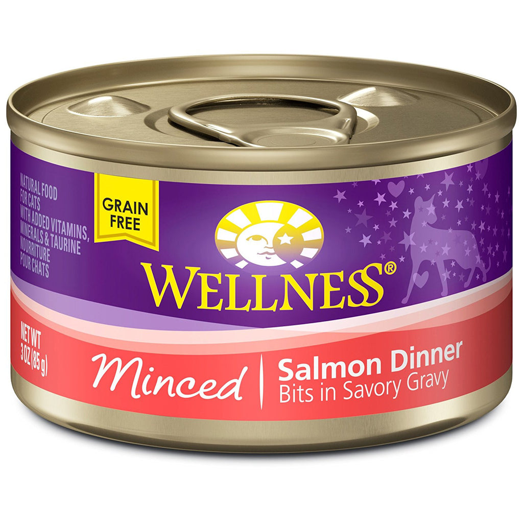 WELLNESS CAT COMPLETE HEALTH MINCED SALMON 3OZ