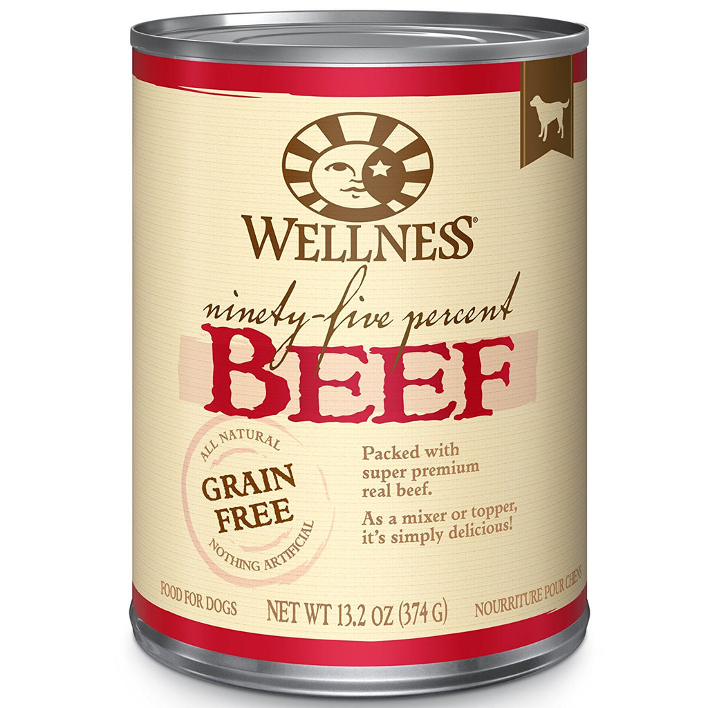 WELLNESS DOG GRAIN FREE 95% BEEF 13.2OZ