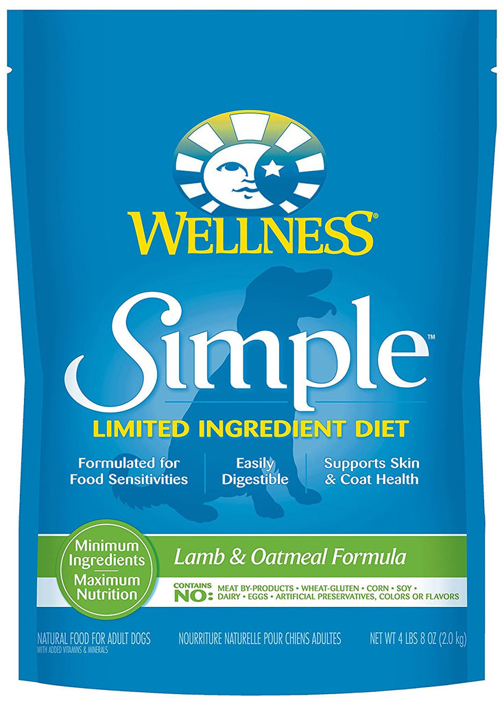 WELLNESS DOG SIMPLE LIMITED INGREDIENT LAMB & OATMEAL 4LBS