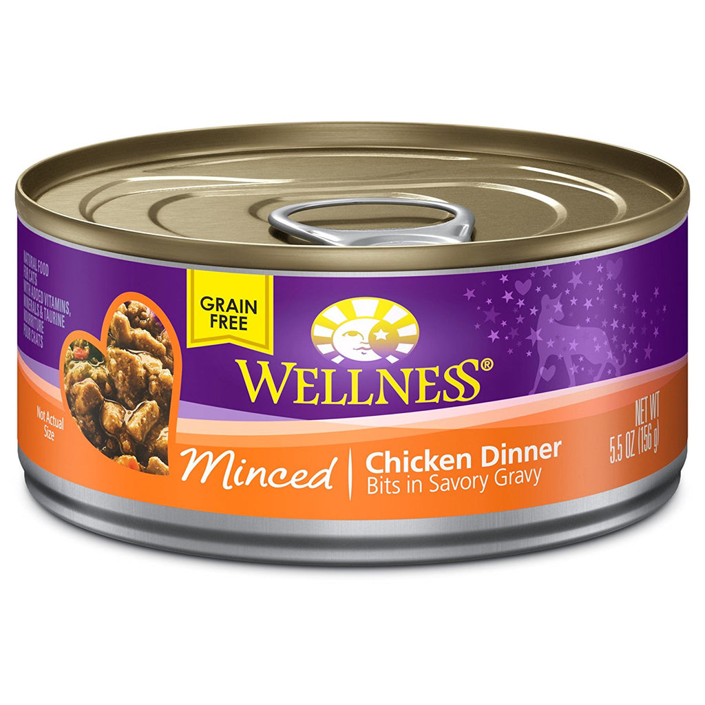 WELLNESS CAT COMPLETE HEALTH MINCED CHICKEN 5.5OZ