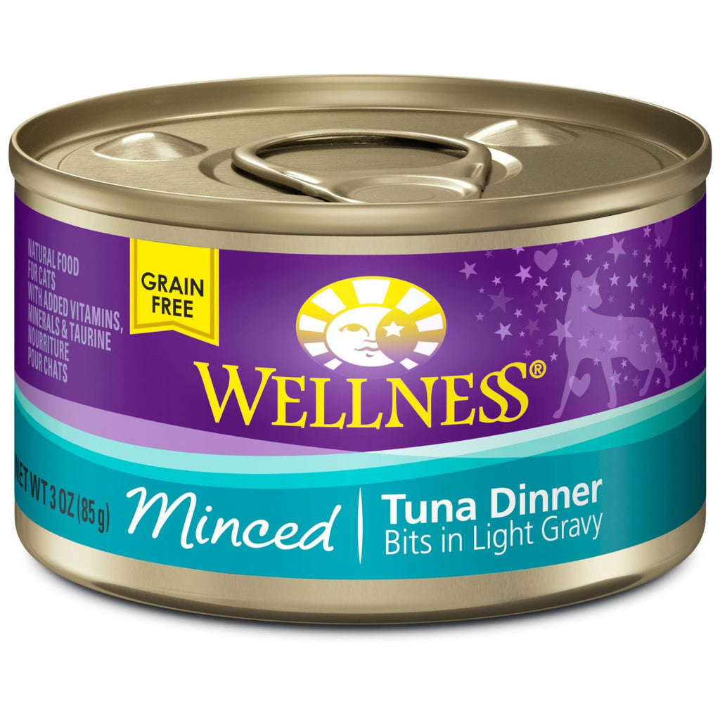 WELLNESS CAT COMPLETE HEALTH MINCED TUNA 3OZ