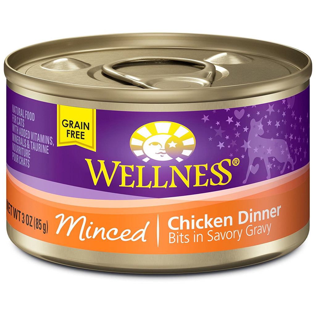WELLNESS CAT COMPLETE HEALTH MINCED CHICKEN 3OZ