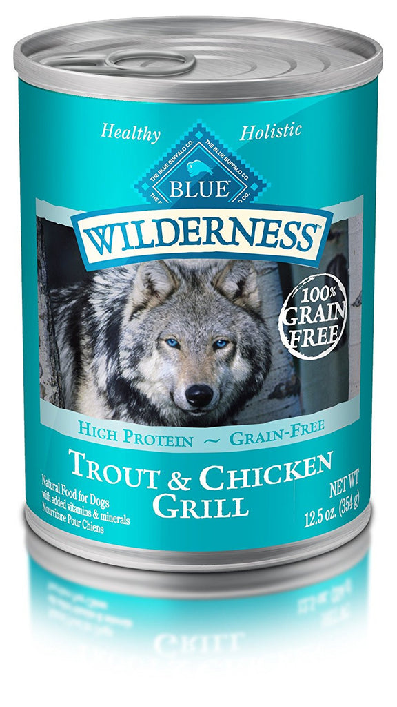 BLUE BUFFALO DOG WILDERNESS TROUT & CHICKEN GRILL 12.5OZ