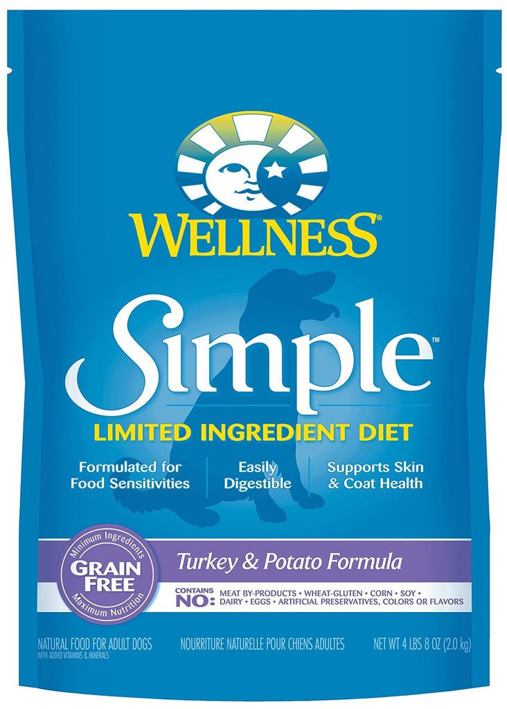 WELLNESS DOG SIMPLE LIMITED INGREDIENT TURKEY & POTATO 4LBS
