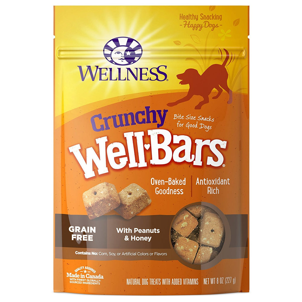 WELLNESS CRUNCHY WELLBARS PEANUTS & HONEY 8OZ
