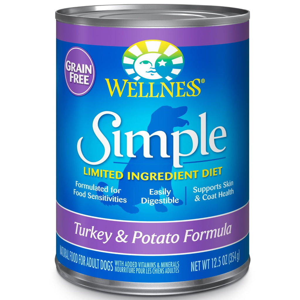 WELLNESS DOG SIMPLE LIMITED TURKEY & POTATO 12.5OZ