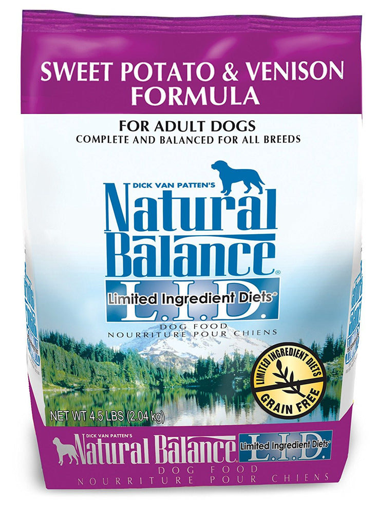 NATURAL BALANCE DOG LIMITED INGREDIENT DIET VENISON & SWEET POTATO 4.5LBS