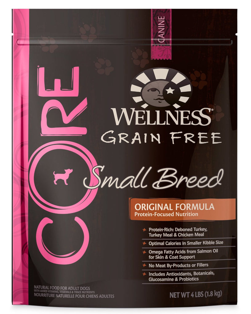 WELLNESS DOG CORE GRAIN FREE SMALL BREED TURKEY, TURKEY MEAL & CHICKEN 4LBS