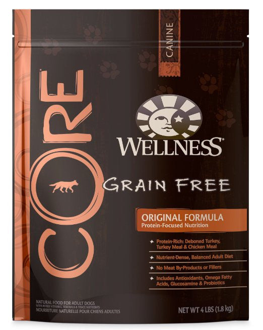 WELLNESS DOG CORE GRAIN FREE ORIGINAL FORMULA 4LBS