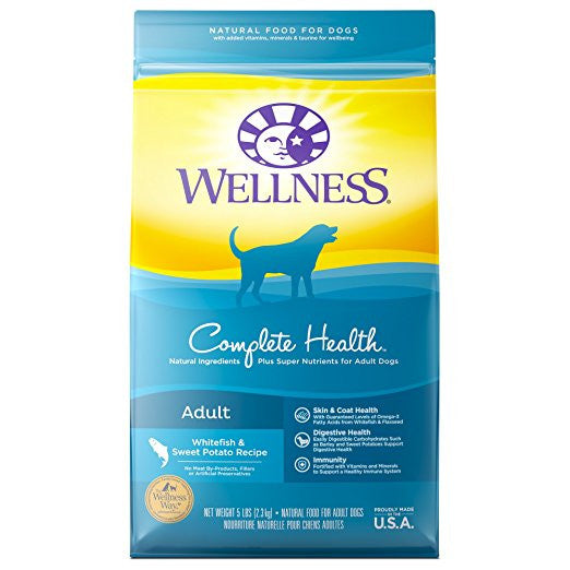 WELLNESS DOG COMPLETE HEALTH WHITEFISH & SWEET POTATO 5LBS