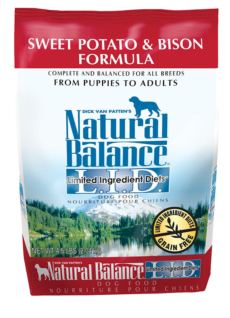 NATURAL BALANCE DOG LIMITED INGREDIENT DIET BISON & SWEET POTATO 4.5LBS