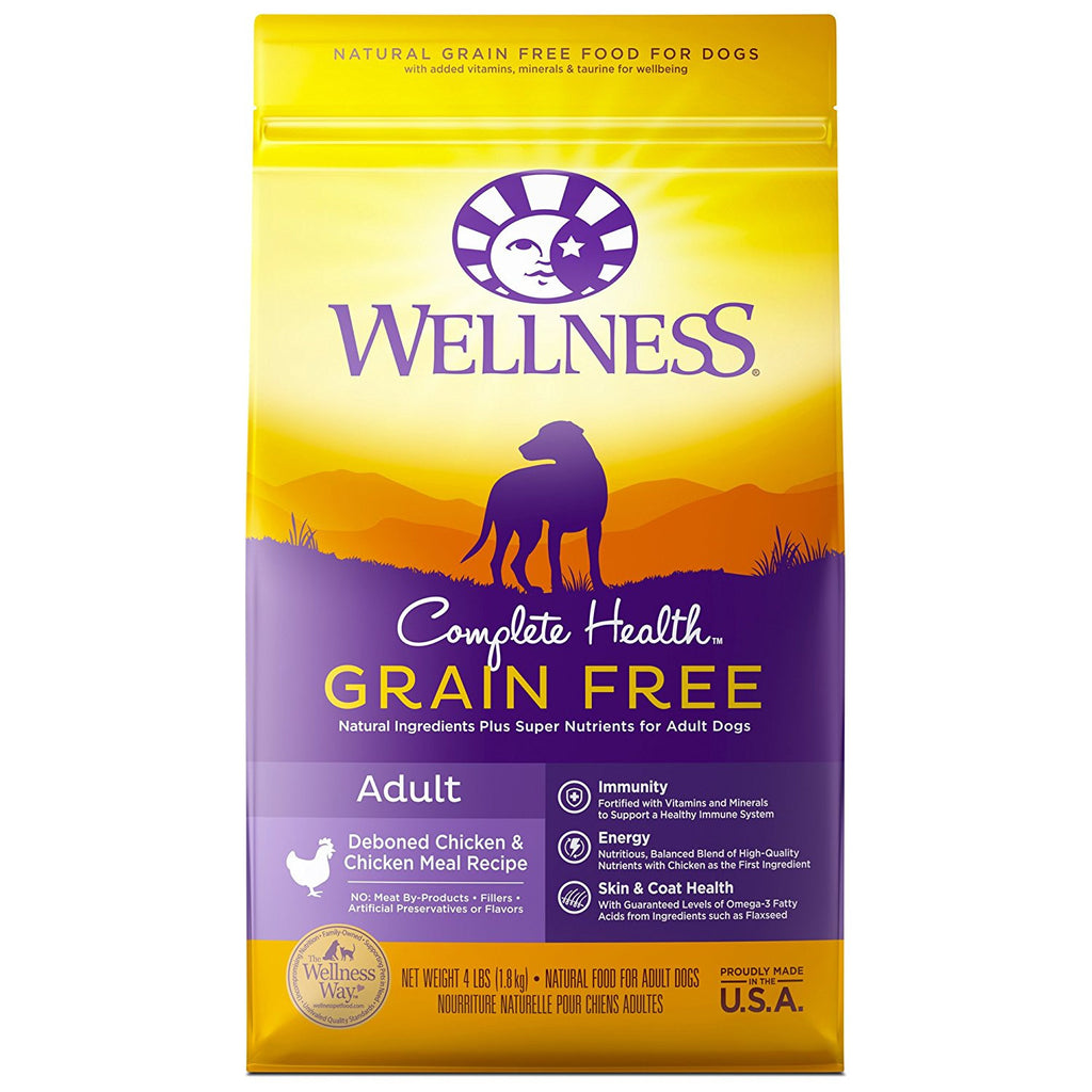 WELLNESS DOG GRAIN FREE DEBONED CHICKEN & CHICKEN MEAL 4LBS