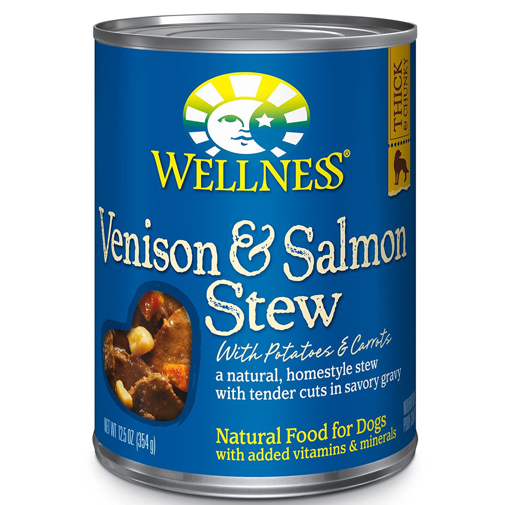 WELLNESS DOG VENISON & SALMON STEW 12.5OZ
