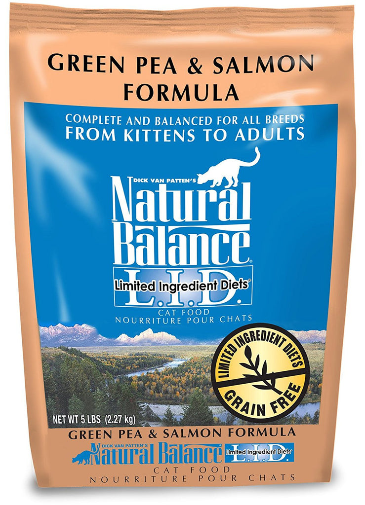 NATURAL BALANCE CAT LIMITED INGREDIENT DIET GREEN PEA & SALMON FORMULA 5LBS