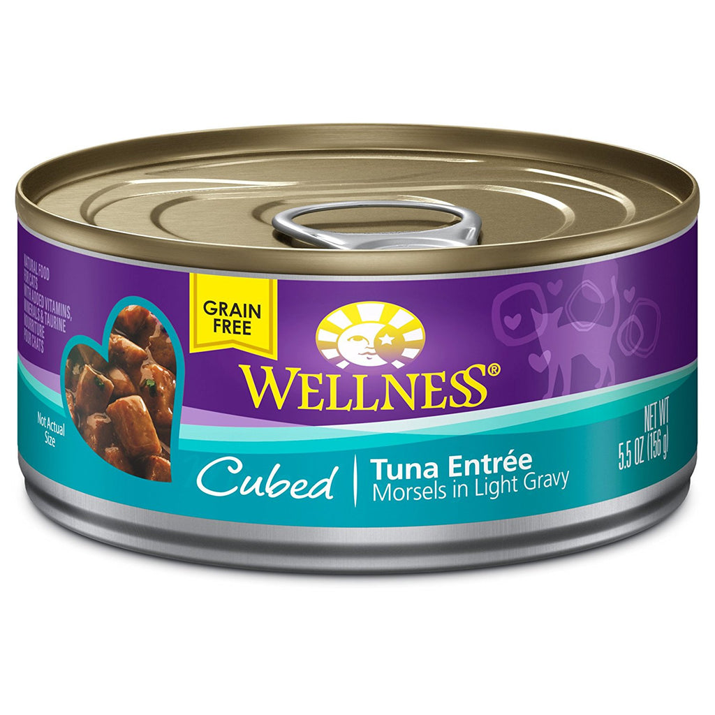 WELLNESS CAT COMPLETE HEALTH MORSELS TUNA 5.5OZ