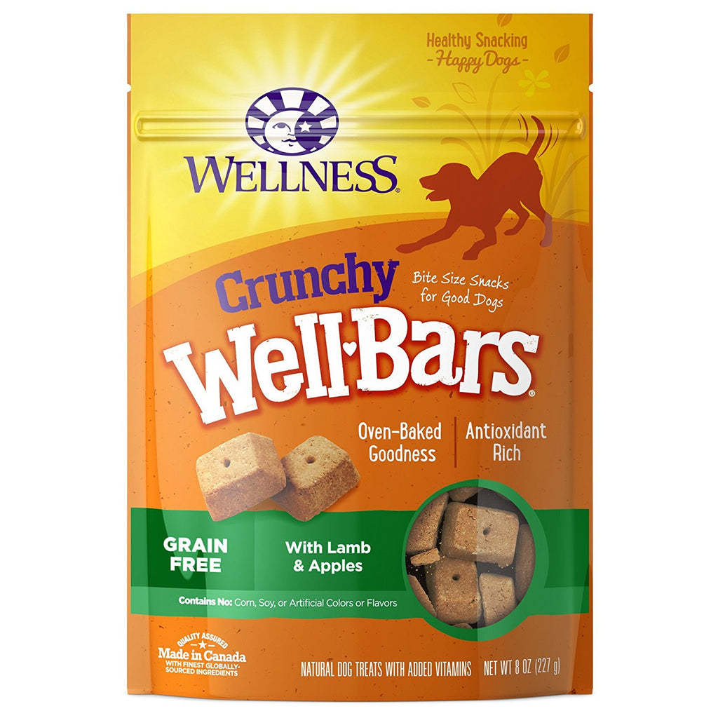WELLNESS CRUNCHY WELLBARS LAMB & APPLES 8OZ