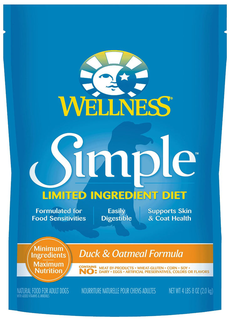 WELLNESS DOG SIMPLE LIMITED INGREDIENT DUCK & OATMEAL 4.5LBS