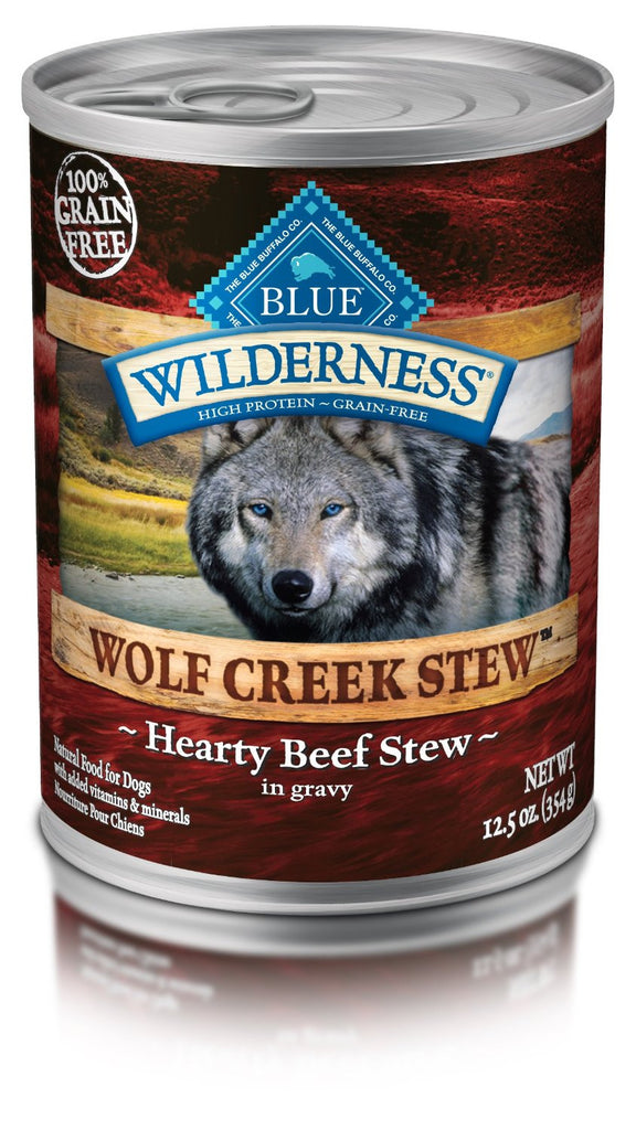 BLUE BUFFALO DOG WILDERNESS WOLF CREEK STEW BEEF 12.5OZ