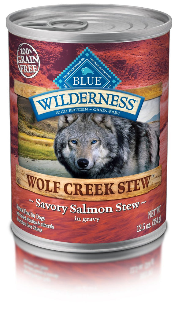 BLUE BUFFALO DOG WILDERNESS WOLF CREEK STEW SALMON 12.5OZ