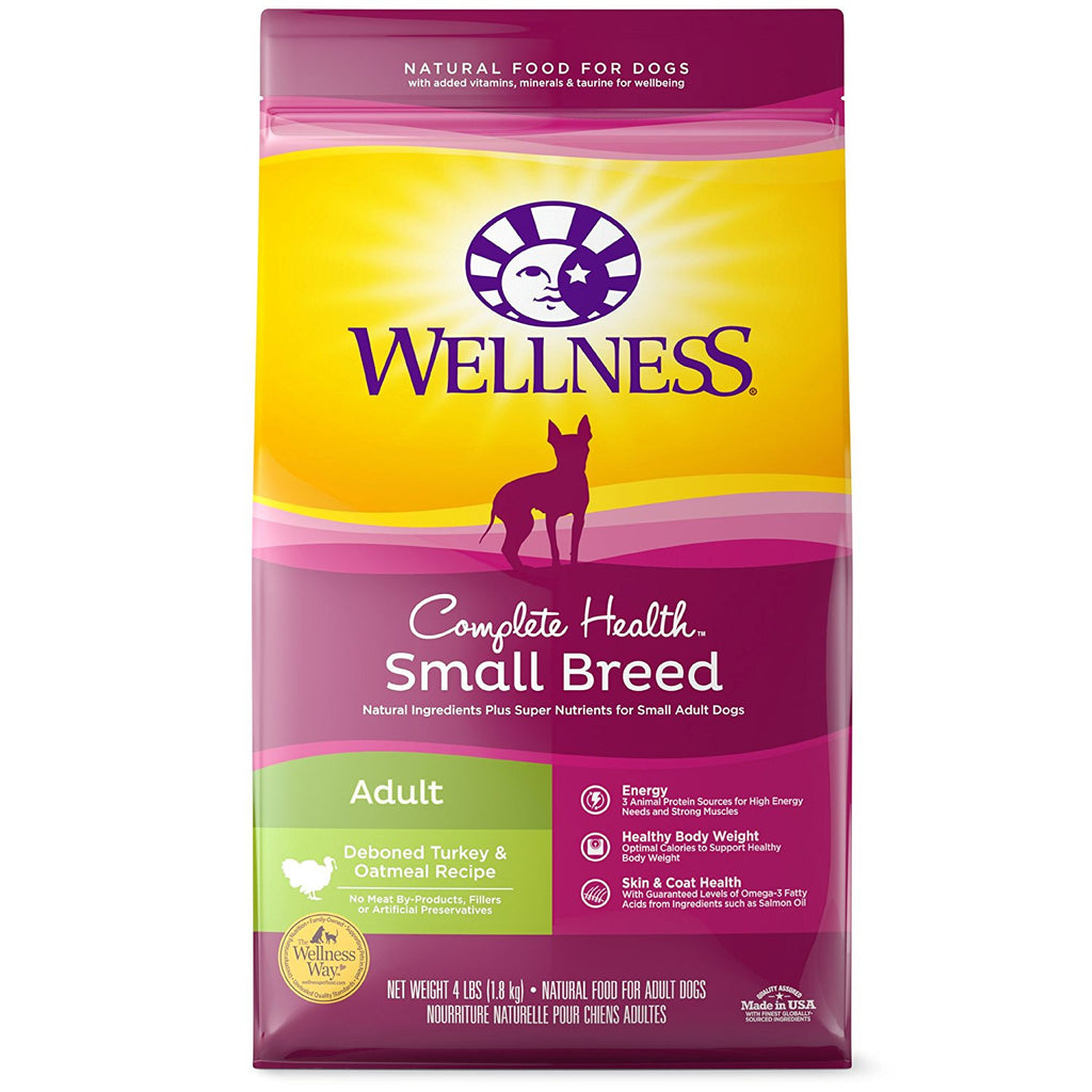 WELLNESS DOG COMPLETE HEALTH SMALL BREED TURKEY & OATMEAL 4LBS