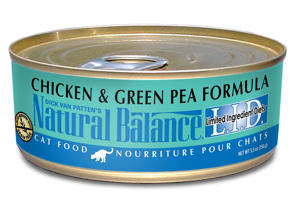 NATURAL BALANCE CAT LIMITED INGREDIENT DIET CHICKEN & GREEN PEA FORMULA 5.5OZ
