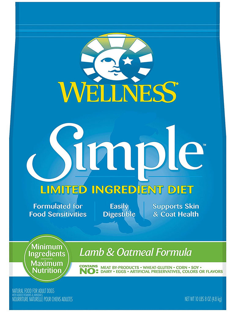 WELLNESS DOG SIMPLE LIMITED INGREDIENT LAMB & OATMEAL 10.5LBS