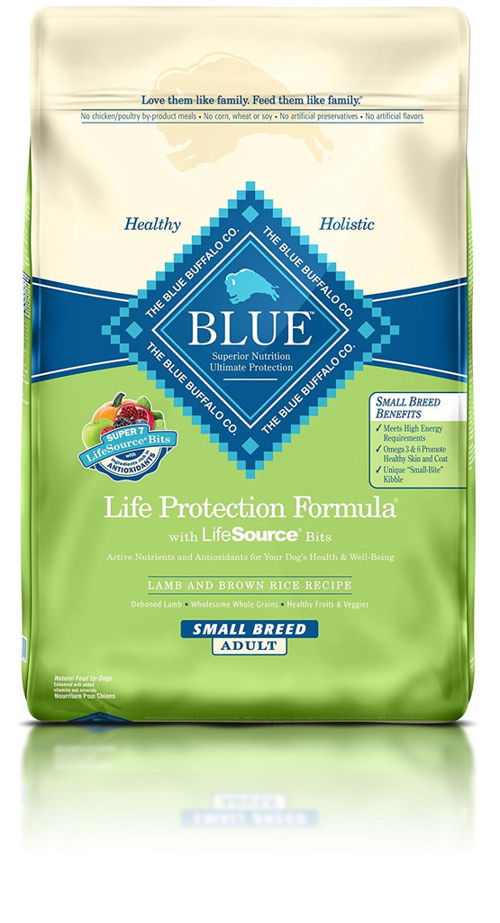 BLUE BUFFALO DOG SMALL BREED LAMB & BROWN RICE 15LBS
