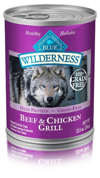 BLUE BUFFALO DOG WILDERNESS BEEF & CHICKEN GRILL 12.5OZ
