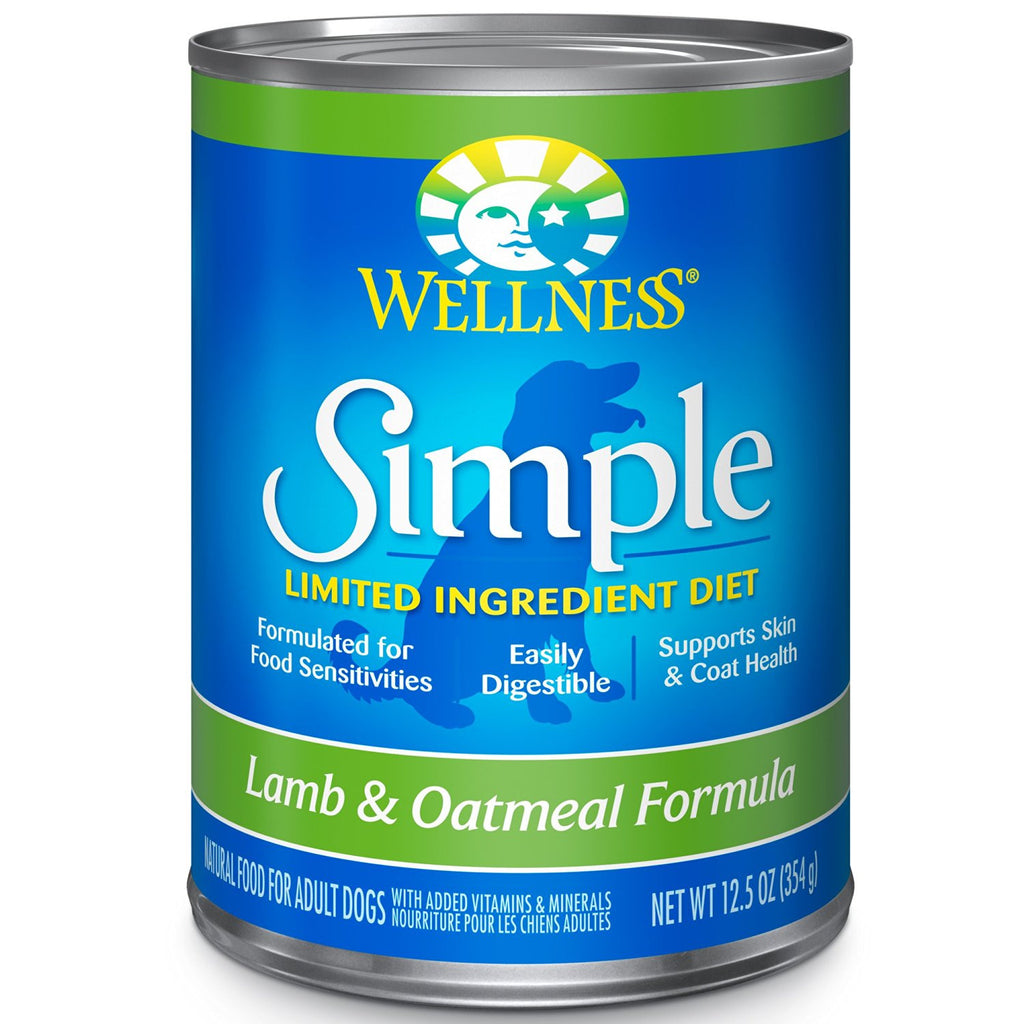 WELLNESS DOG SIMPLE LIMITED INGREDIENT LAMB & OATMEAL RECIPE 12.5OZ