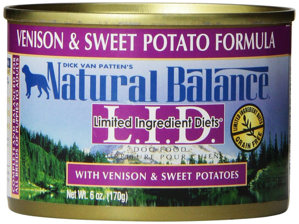 NATURAL BALANCE DOG LIMITED INGREDIENT DIET VENISON & SWEET POTATO 6OZ