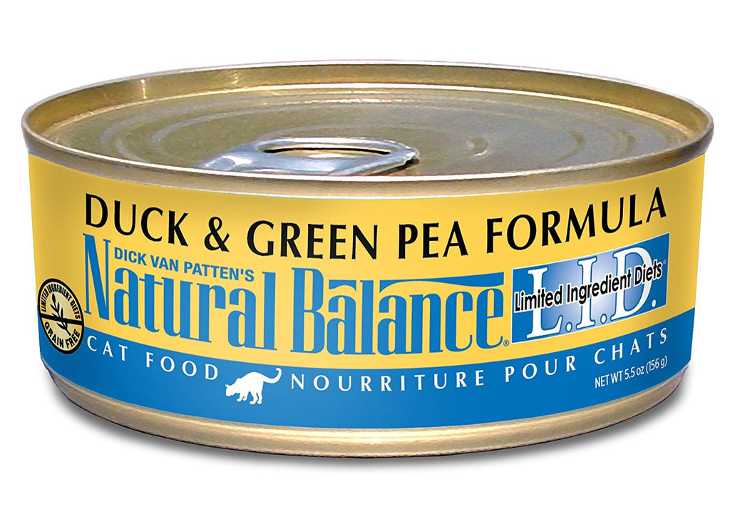 NATURAL BALANCE CAT LIMITED INGREDIENT DIET DUCK & GREEN PEA FORMULA 5.5OZ