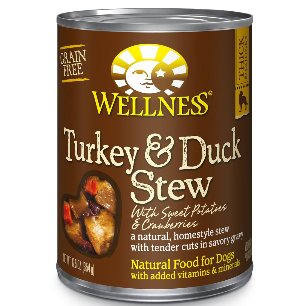 WELLNESS DOG TURKEY & DUCK STEW WITH SWEET POTATOES & CRANBERRIES 12.5OZ