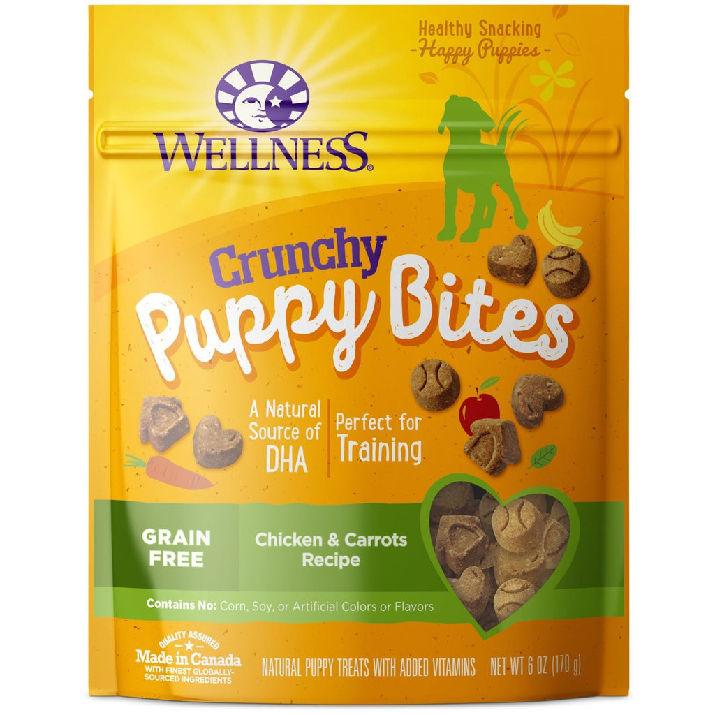 WELLNESS CRUNCHY PUPPY BITES CHICKEN & CARROTS 6OZ