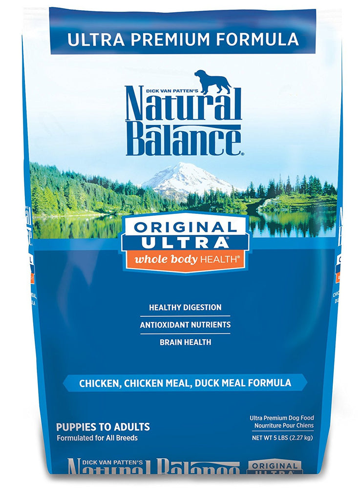 NATURAL BALANCE DOG ULTRA PREMIUM FORMULA CHICKEN, SALMON & DUCK 5LBS