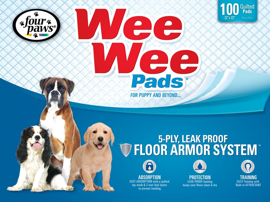 FOUR PAWS WEE WEE 100 PADS