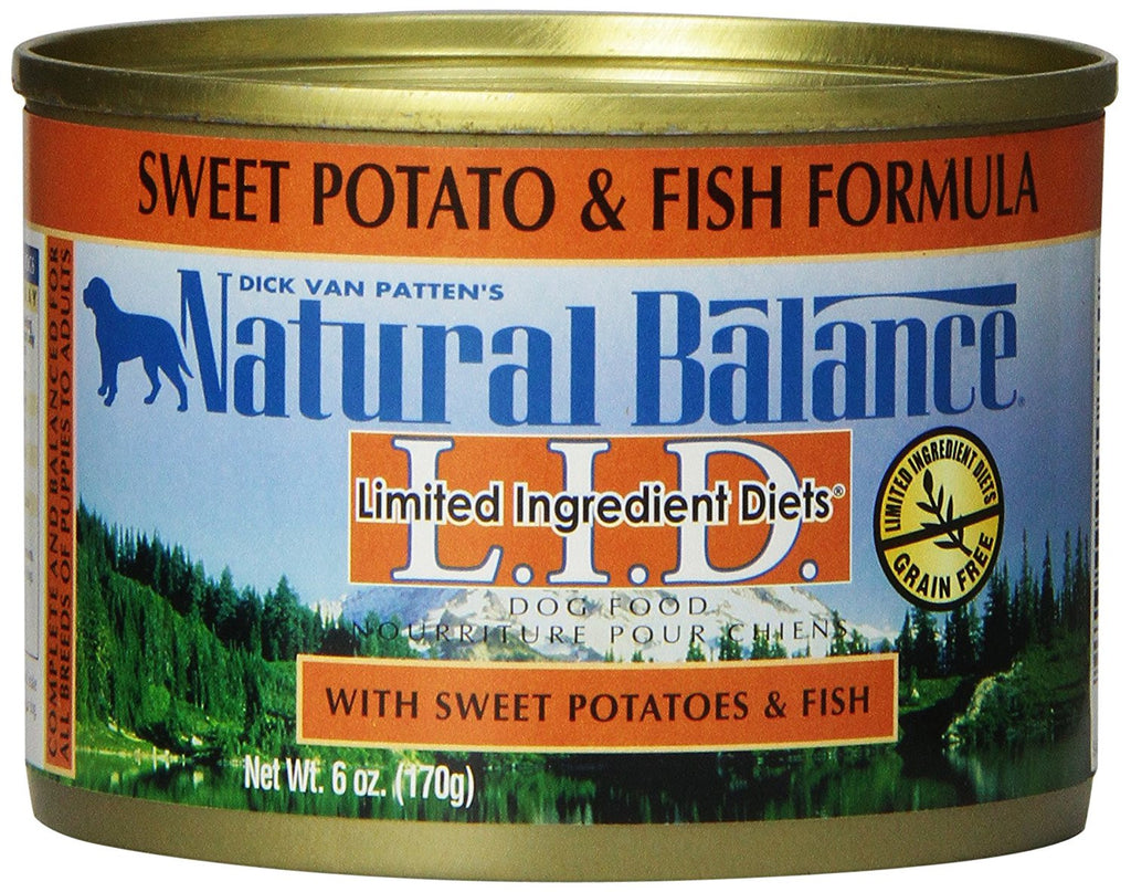 NATURAL BALANCE DOG LIMITED INGREDIENT DIET FISH & SWEET POTATO 6OZ
