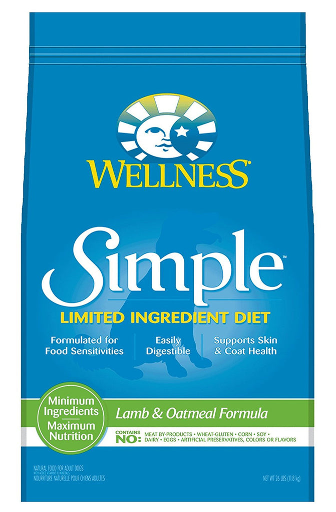 WELLNESS DOG SIMPLE LIMITED INGREDIENT LAMB & OATMEAL 26LBS