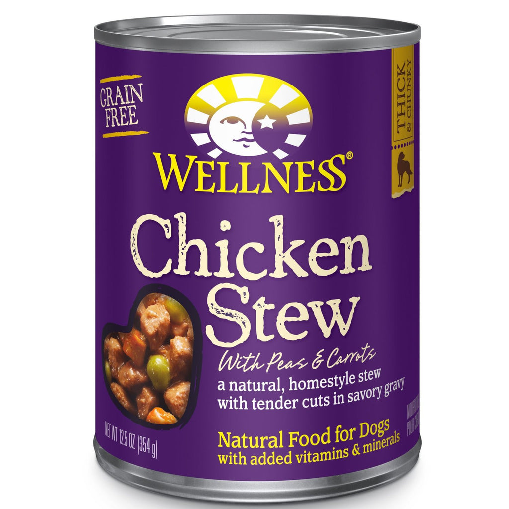 WELLNESS DOG CHICKEN STEW WITH PEAS & CARROTS 12.5OZ