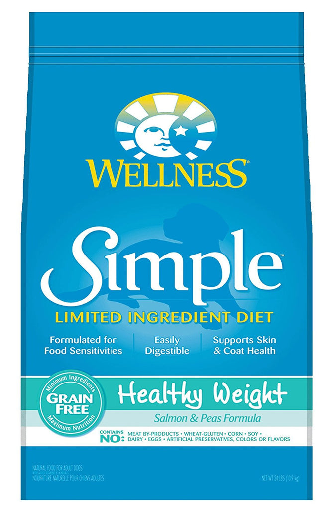WELLNESS DOG SIMPLE LIMITED INGREDIENT HEALTHY WEIGHT SALMON & PEAS 24LBS