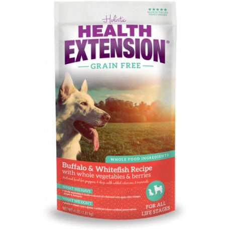 HEALTH EXTENSION DOG GRAIN FREE BUFFALO & WHITEFISH 10LBS