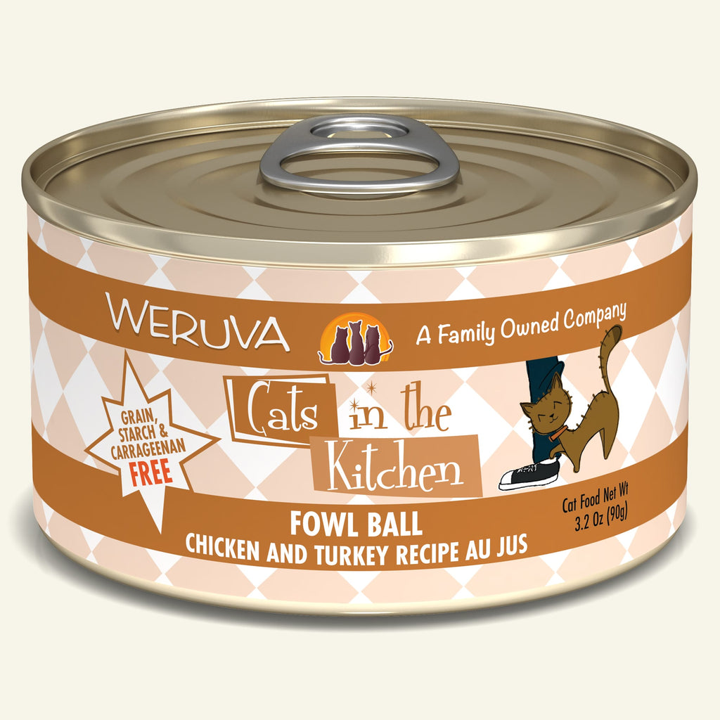 Weruva Cats in the Kitchen Fowl Ball, 3.2oz Cat Food