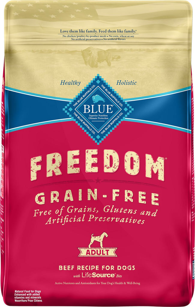 BLUE BUFFALO DOG FREEDOM SMALL BREED GRAIN FREE BEEF 4LBS