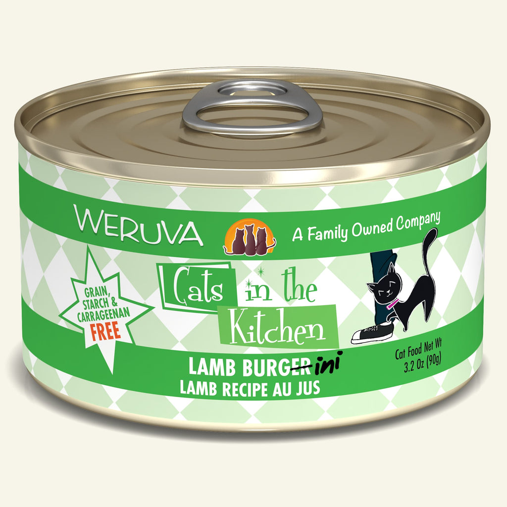 Weruva Cats in the Kitchen Lamb Burgini, 3.2oz Cat Food