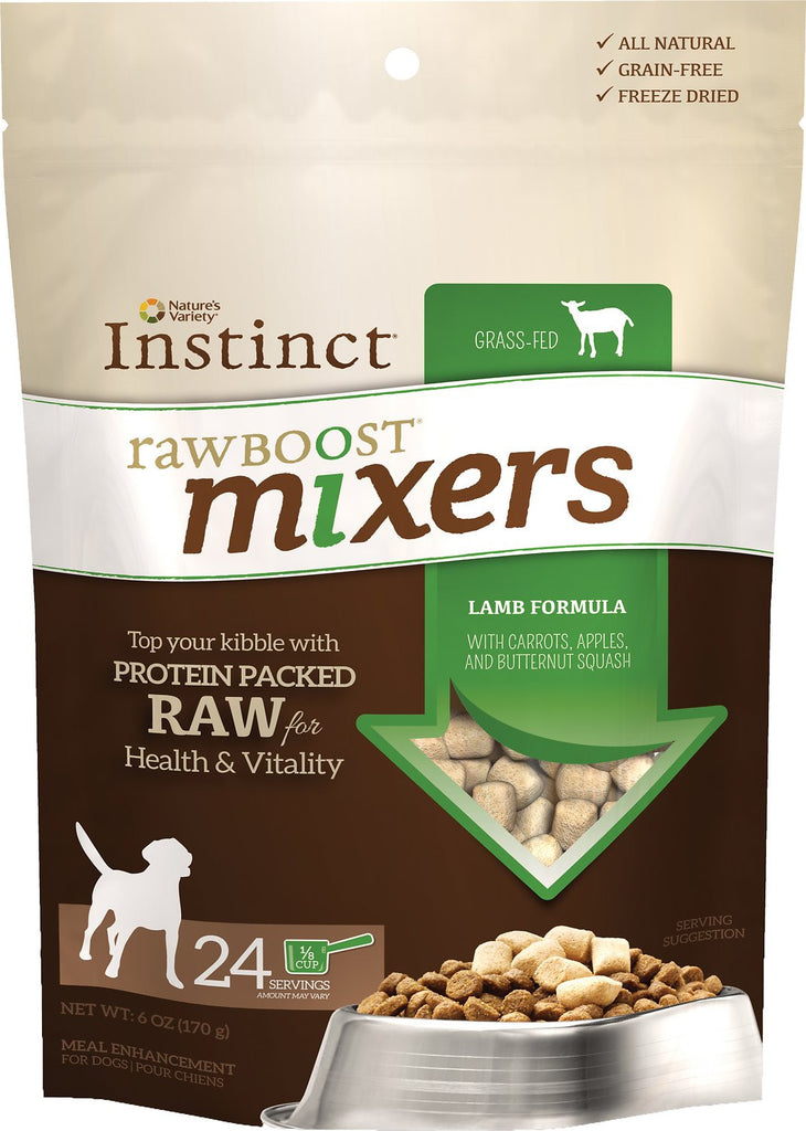 NATURE'S VARIETY INSTINCT RAW BOOST MIXERS LAMB, DOG 6OZ