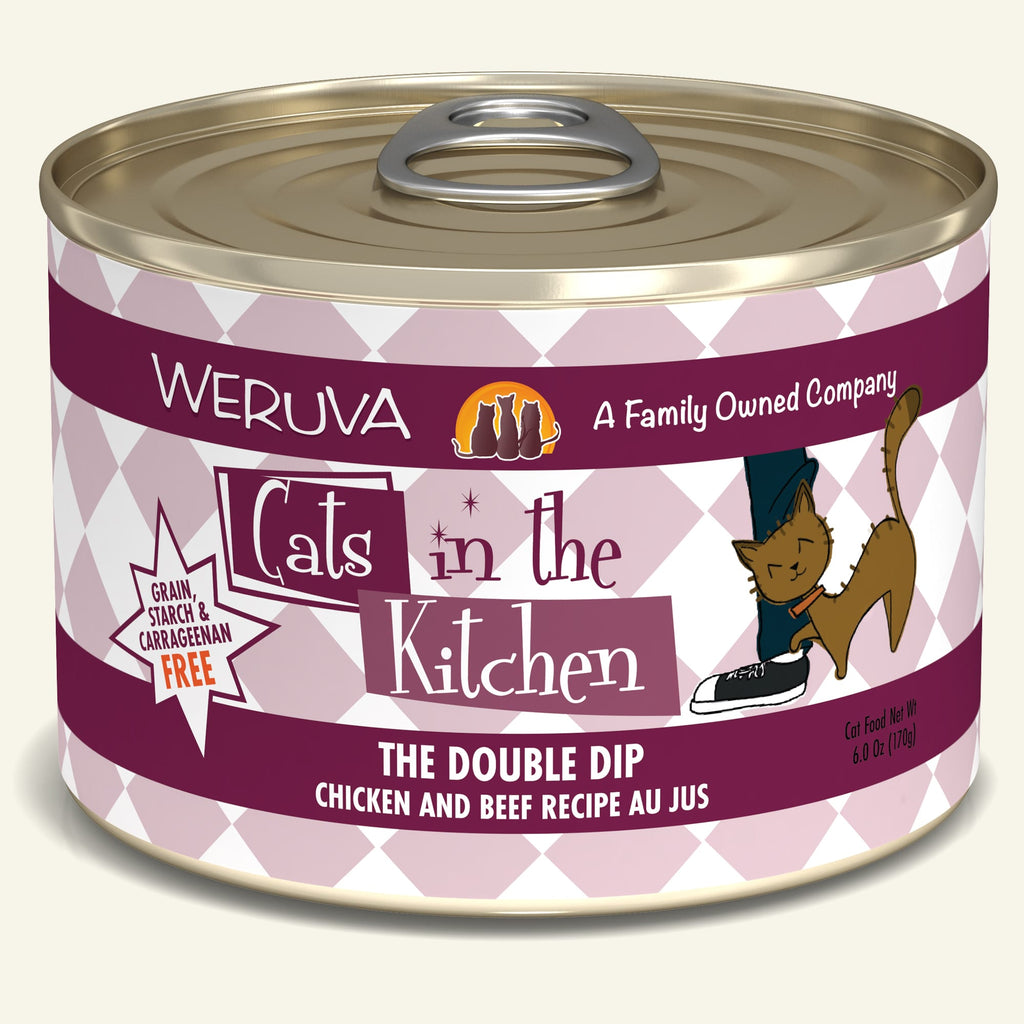 Weruva Cats in the Kitchen The Double Dip, 6oz Cat Food