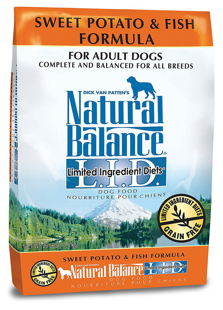 NATURAL BALANCE DOG LIMITED INGREDIENT DIET FISH & SWEET POTATO 26LBS