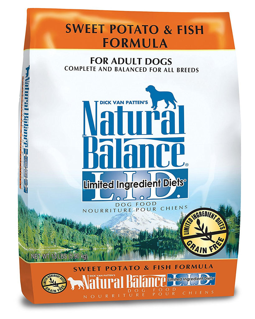 NATURAL BALANCE DOG LIMITED INGREDIENT DIET FISH & SWEET POTATO 13LBS
