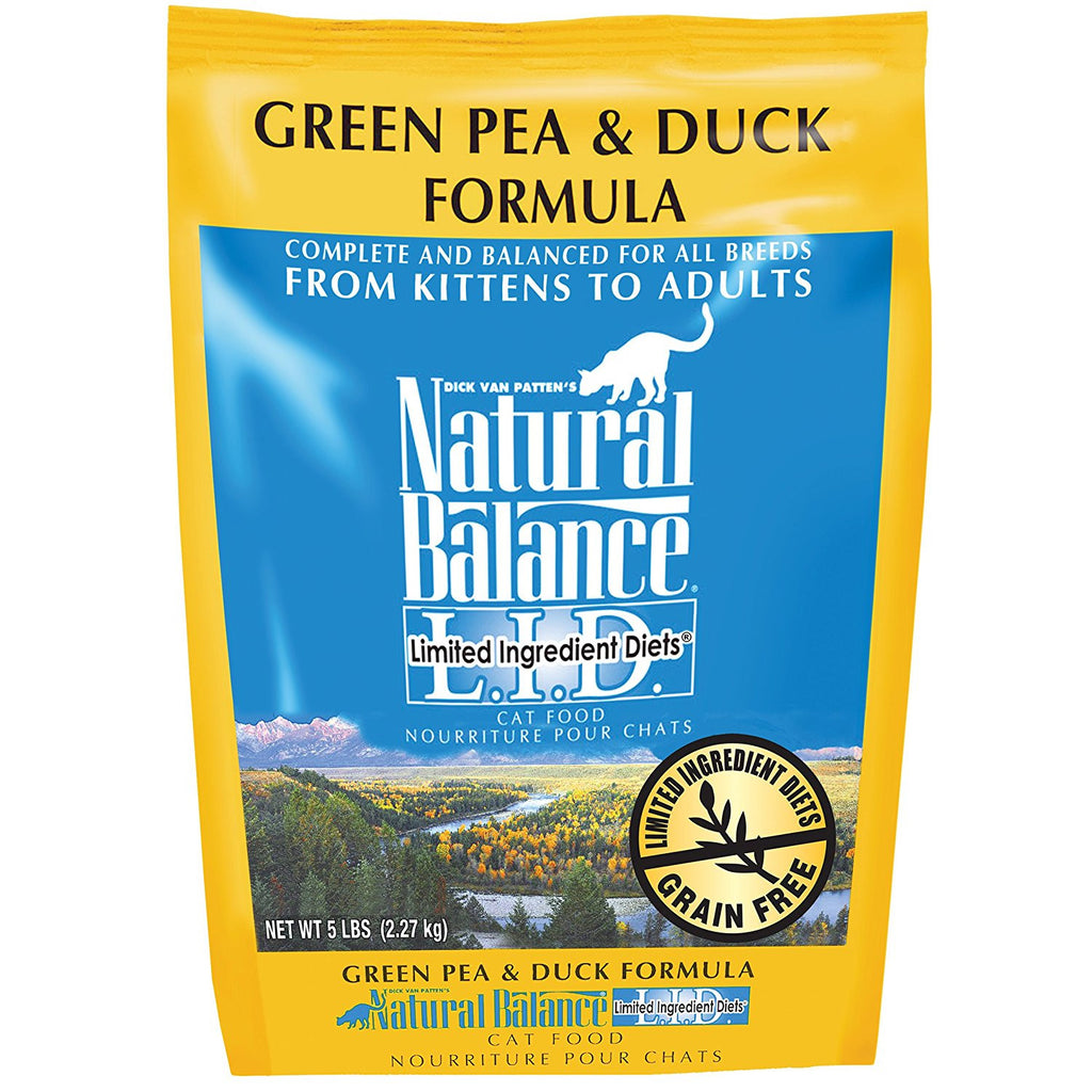 NATURAL BALANCE CAT LIMITED INGREDIENT DIET GREEN PEA & DUCK FORMULA 5LBS