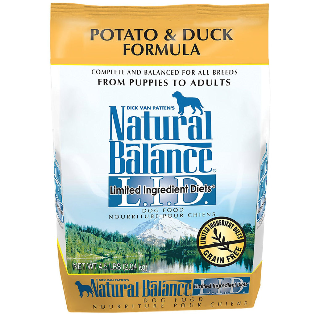 NATURAL BALANCE DOG LIMITED INGREDIENT DIET DUCK & POTATO 4.5LBS